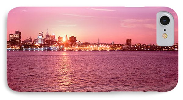 Usa, Pennsylvania, Philadelphia At Dusk IPhone Case