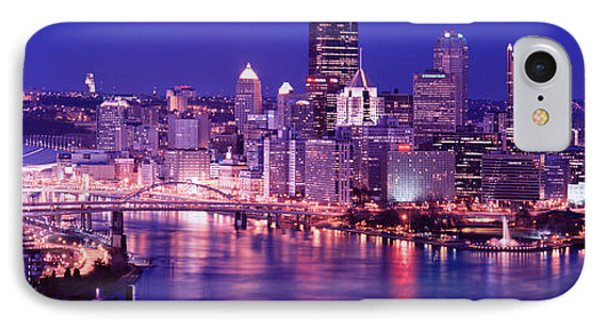 Usa, Pennsylvania, Pittsburgh At Dusk IPhone Case by Panoramic Images