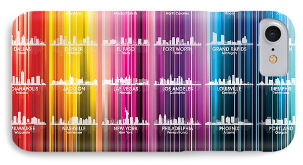Usa Skylines 2 IPhone Case by Angelina Vick