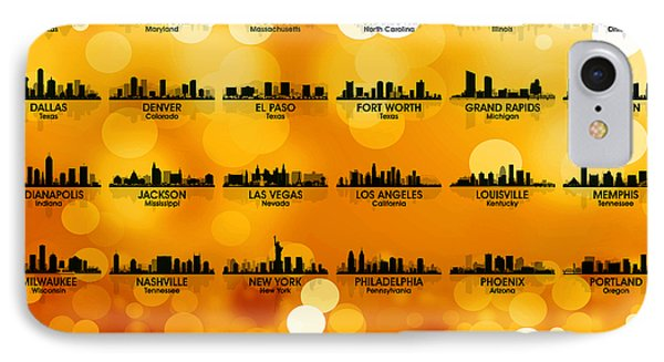 Usa Skylines 3 IPhone Case by Angelina Vick
