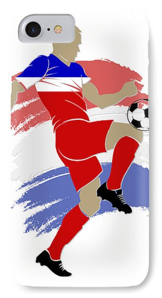 Usa Soccer Player IPhone Case by Joe Hamilton