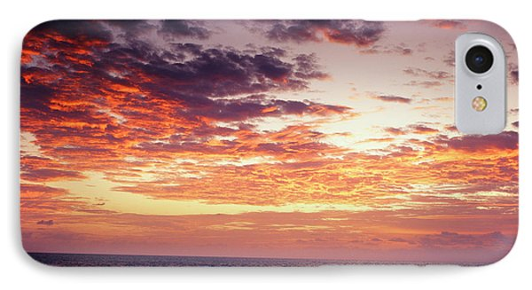 Usa, South Florida, View Of Sunrise IPhone Case by Adam Jones