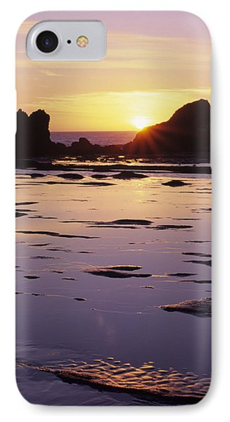 Usa, Sun Setting Over Rocks And IPhone Case