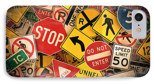 Usa Traffic Signs IPhone Case by Carsten Reisinger