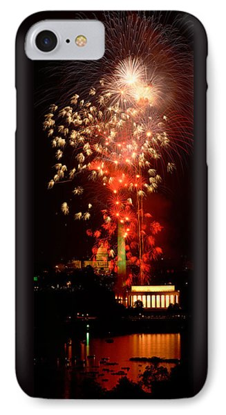 Usa, Washington Dc, Fireworks IPhone 7 Case by Panoramic Images