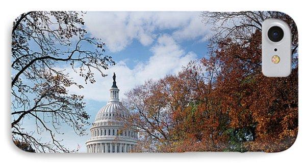 Usa, Washington Dc, View Of Capitol IPhone Case