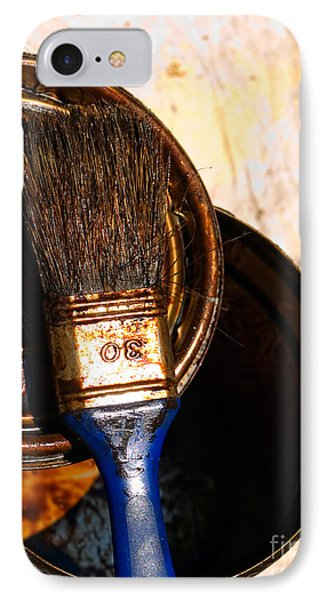 Used Paint Brush IPhone Case by Sinisa Botas