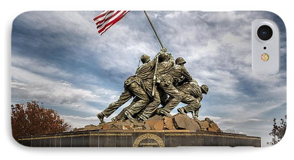 Usmc Iwo Jima Memorial IPhone Case by Susan Candelario