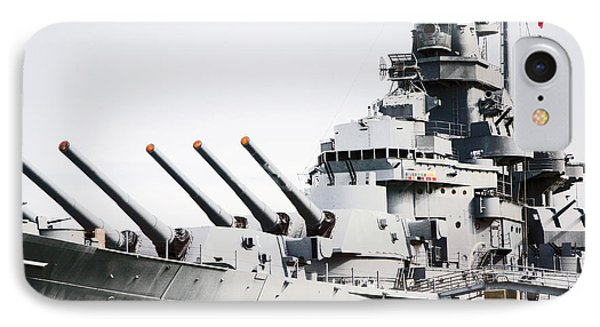 IPhone Case featuring the photograph Uss Alabama by Susan  McMenamin