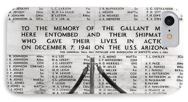 U.s.s. Arizona Pearl Harbor Memorial IPhone Case by Barbara West