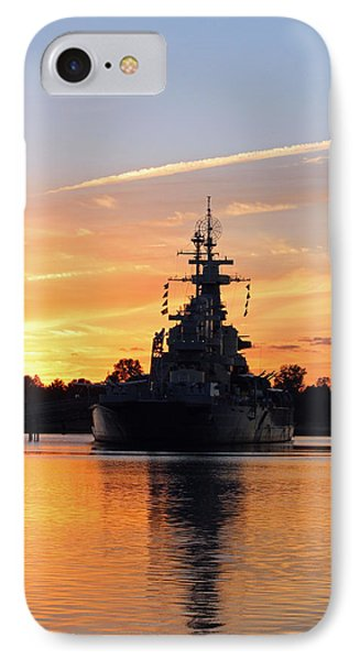 IPhone Case featuring the photograph Uss Battleship by Cynthia Guinn