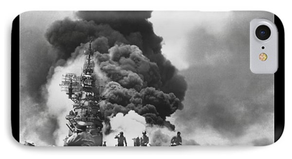 Uss Bunker Hill Kamikaze Attack  Phone Case by War Is Hell Store