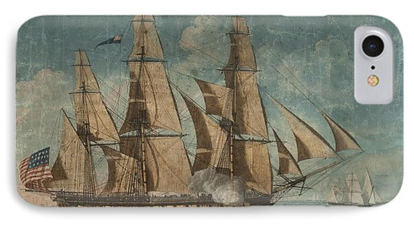 Uss Constitution 1803 IPhone Case by Celestial Images
