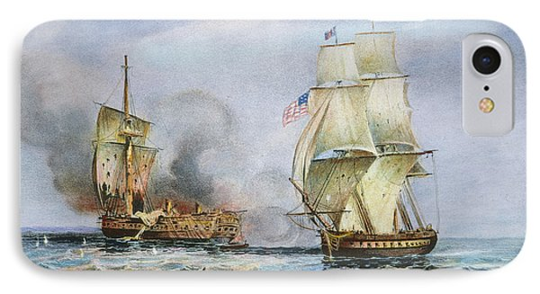 Uss Constitution Battle IPhone Case by Granger