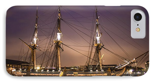 Uss Constitution Boston   IPhone Case by John McGraw