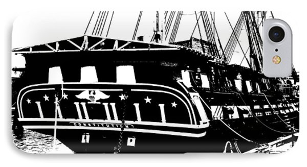 Uss Constitution Phone Case by Charlie and Norma Brock