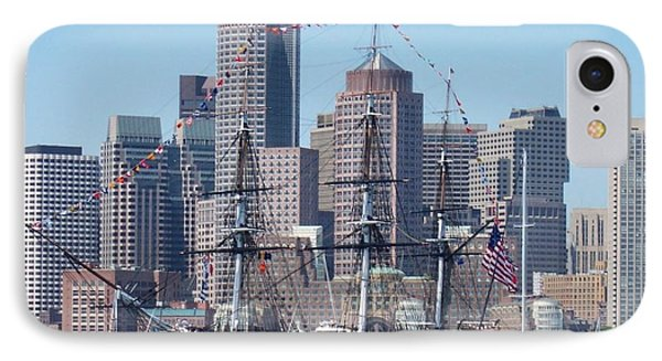 Uss Constitution Phone Case by Catherine Gagne