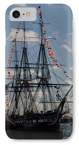IPhone Case featuring the photograph Uss Constitution by Mike Ste Marie