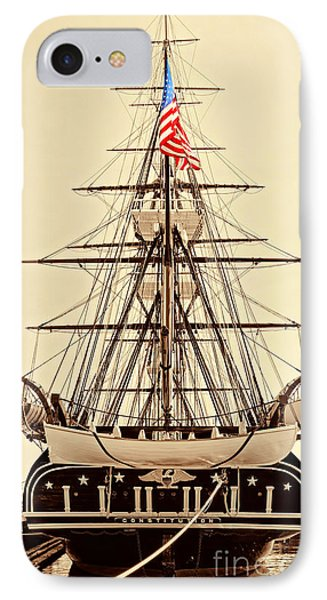 Uss Constitution IPhone Case by Nigel Fletcher-Jones