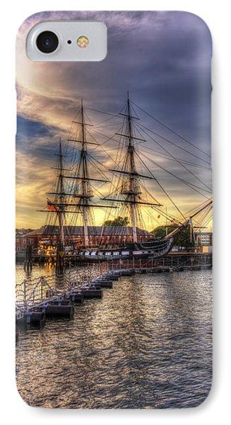 Uss Constitution Sunset - Boston IPhone Case