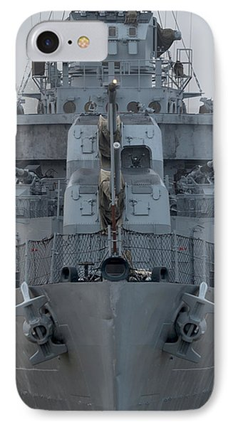 Uss Kidd Dd 661 Front View IPhone Case by Maggy Marsh