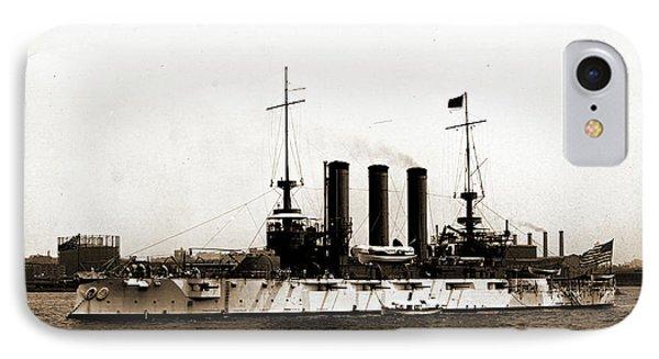U.s.s. Maine, Broadside, Maine Battleship  1902-1922 IPhone Case by Litz Collection