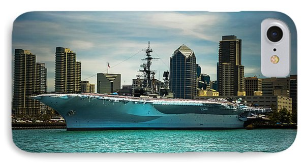 Uss Midway Museum Cv 41 Aircraft Carrier IPhone Case by Claudia Ellis