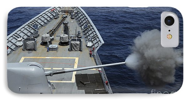 Uss Philippine Sea Fires Its Mk 45 Phone Case by Stocktrek Images