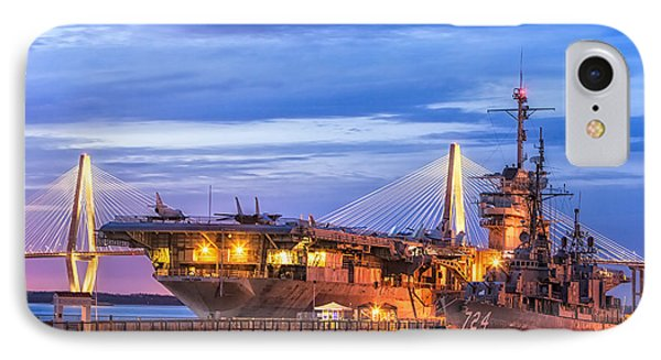 Uss Yorktown Museum IPhone Case by Jerry Fornarotto