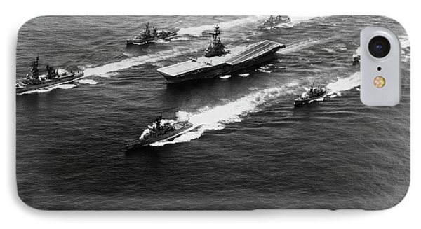 Uss Yorktown Surrounded By Her Escorts IPhone Case