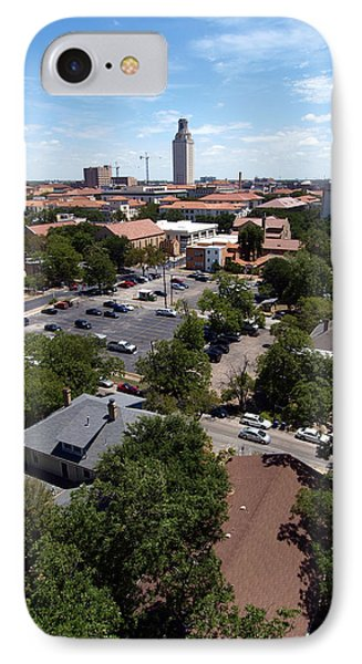 Ut Tower 2009 And Campus Area IPhone Case