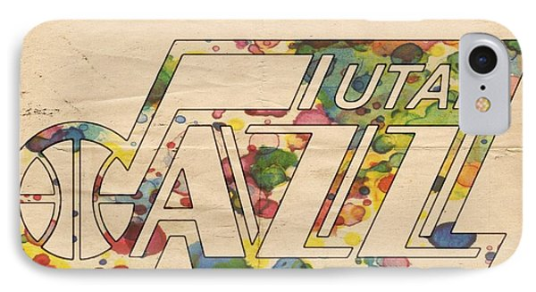 Utah Jazz Retro Poster IPhone Case