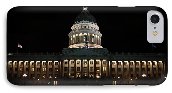IPhone Case featuring the photograph Utah State Capitol Front by David Andersen