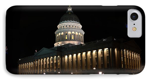 IPhone Case featuring the photograph Utah State Capitol East by David Andersen
