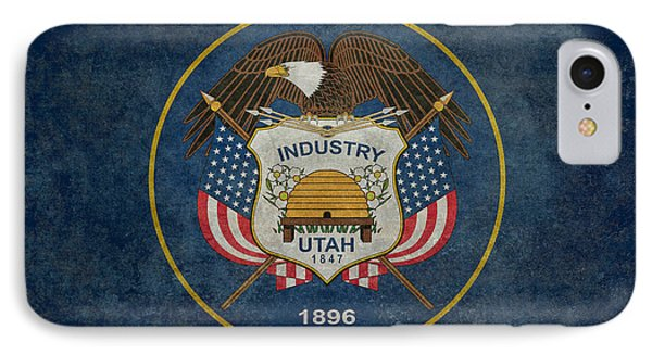 Utah State Flag Vintage Version IPhone Case