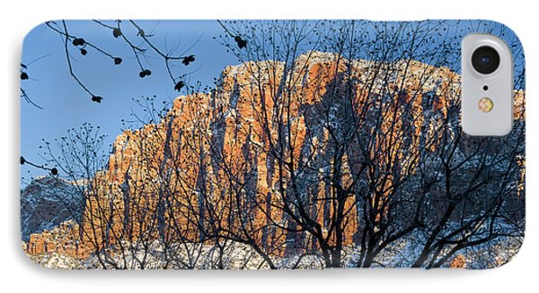 Utah Usa View Of The Watchman In Zion IPhone Case by Scott T. Smith