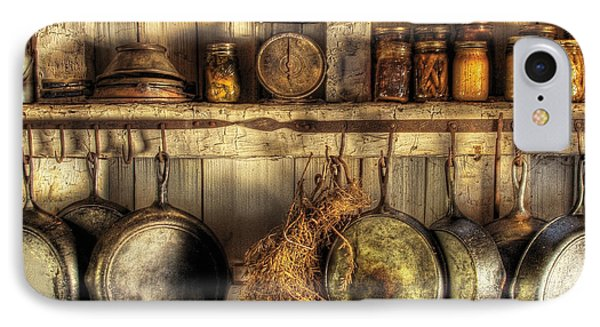 Utensils - Old Country Kitchen Phone Case by Mike Savad