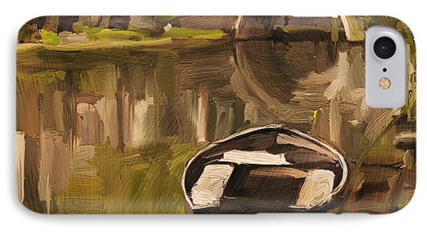 IPhone Case featuring the painting Utrecht - Oude Gracht By Briex by Nop Briex