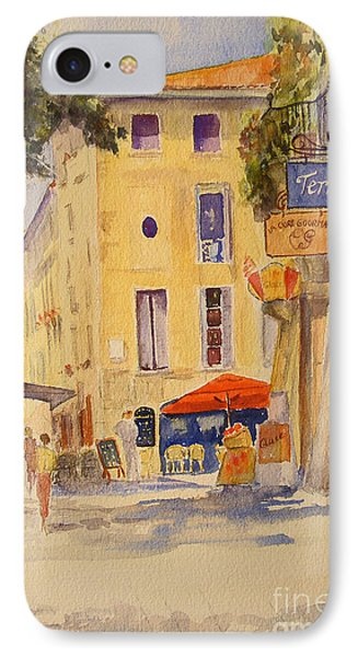 IPhone Case featuring the painting Uzes France by Beatrice Cloake