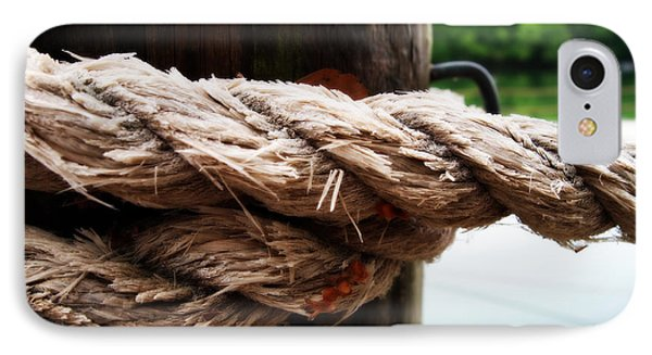 V2- Weathered Rope On The Dock  IPhone Case by Deborah Fay