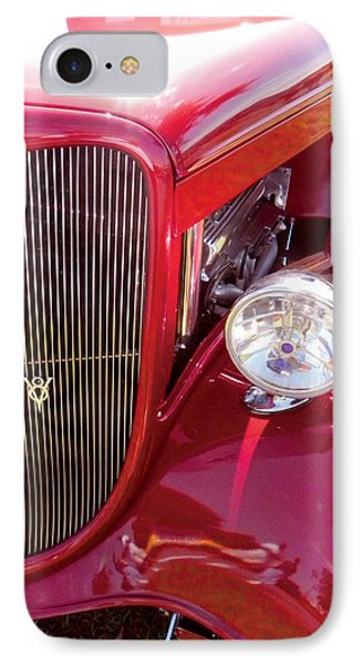 V8 Classic Car IPhone Case by Val Miller