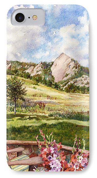 Vacation At Chautauqua IPhone Case by Anne Gifford