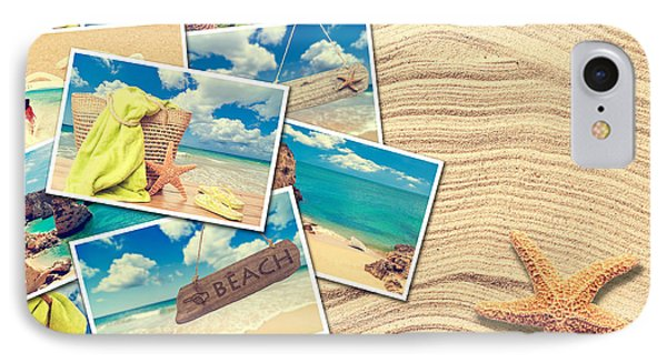 Vacation Postcards Phone Case by Amanda Elwell