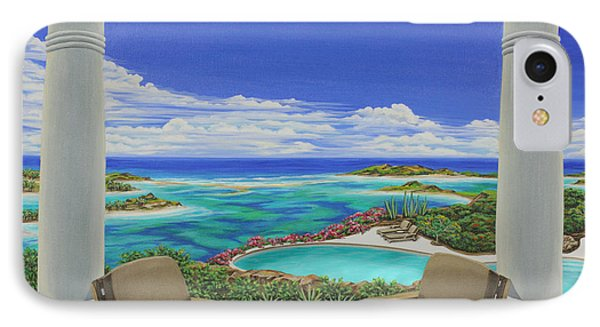 IPhone Case featuring the painting Vacation View by Jane Girardot