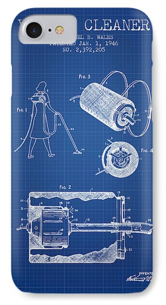 Vacuum Cleaner Patent From 1946 - Blueprint IPhone Case by Aged Pixel