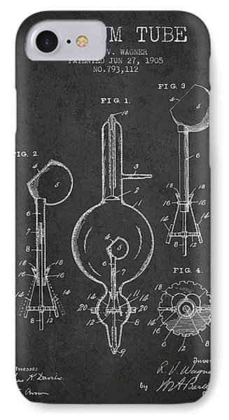 Vacuum Tube Patent From 1905 - Charcoal IPhone Case