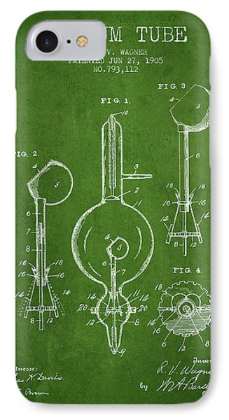 Vacuum Tube Patent From 1905 - Green IPhone Case