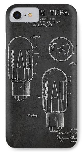 Vacuum Tube Patent From 1927 - Charcoal IPhone Case