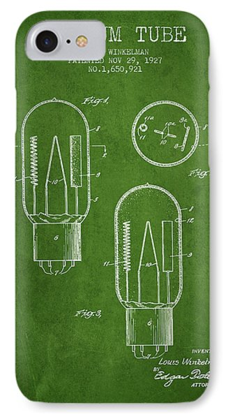 Vacuum Tube Patent From 1927 - Green IPhone Case