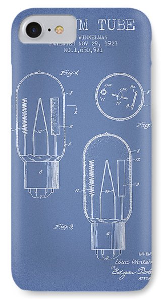 Vacuum Tube Patent From 1927 - Light Blue IPhone Case